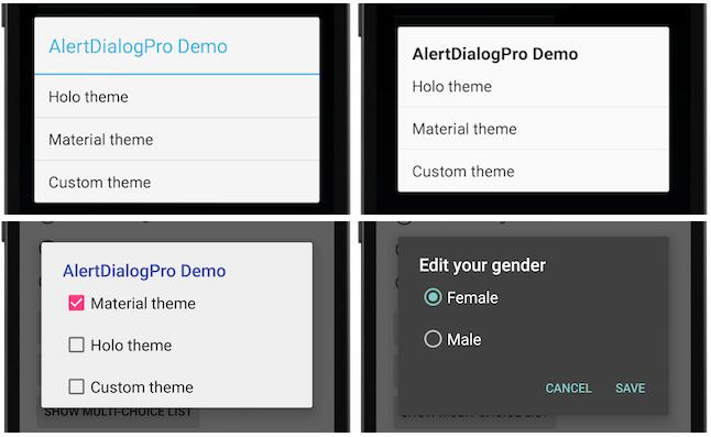 Make it easy to theme and custom Android's dialog