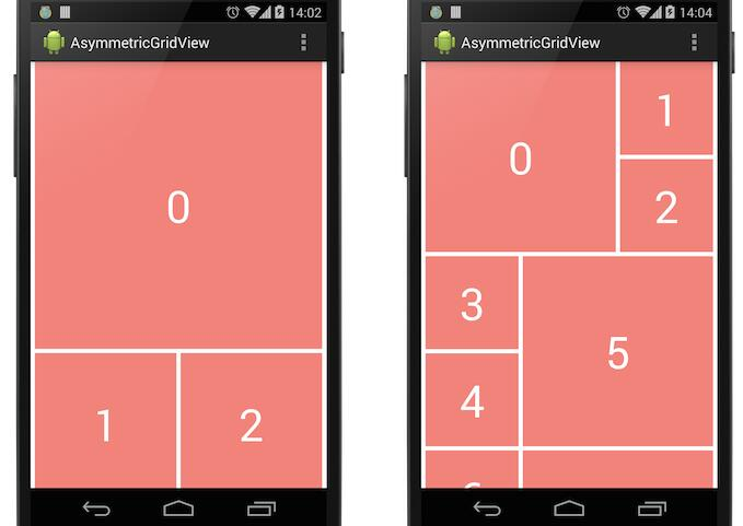 Android ListView that mimics a GridView with asymmetric items