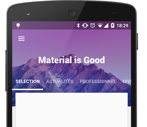 A Material Design ViewPager easy to use library