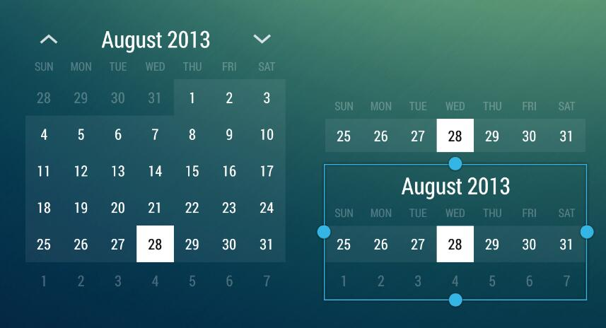 Android Calendar.A Simple Example Of A Responsive Month Calendar App Widget For Android