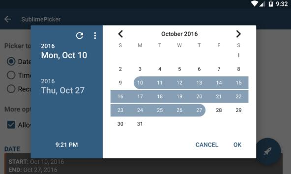 A material-styled android view that provisions picking of a date