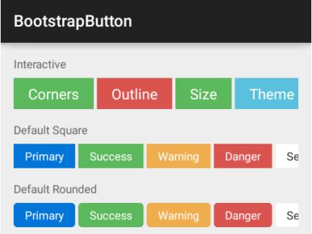 Bootstrap style widgets for Android with Glyph Icons