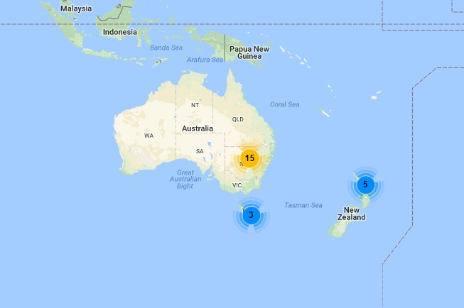 Google Map Of New Zealand.A Clustering Library For The Google Maps Android Api