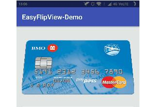 A quick and easy flip view through which you can create views with two sides like credit cards