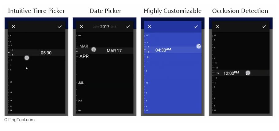Gorgeous Android Time and Date picker library inspired by the Timely app