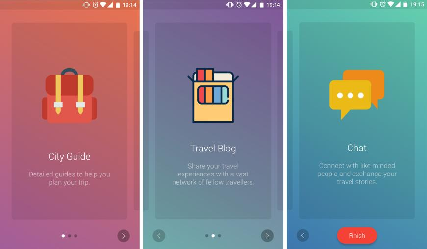 Onboarding library for android with Gradient, Image or Solid color backgrounds