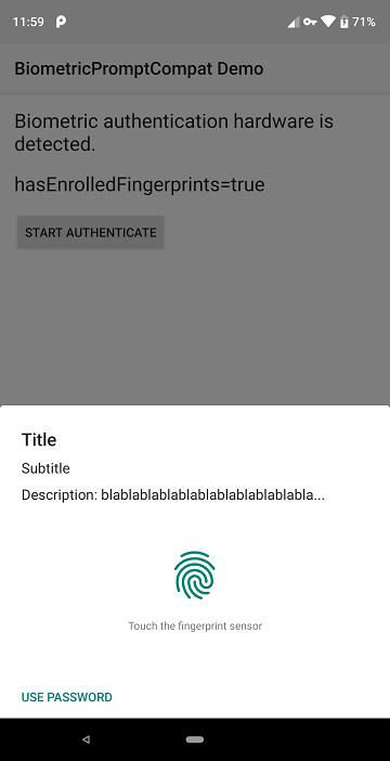 Make BiometricPrompt support all Android 6 0