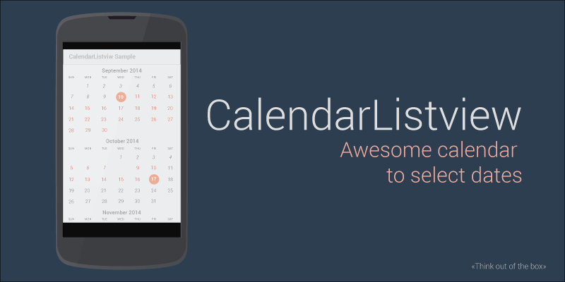 Implementation of a calendar in a ListView