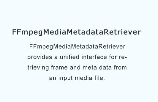 provides a unified interface for retrieving frame and meta data from an input media file
