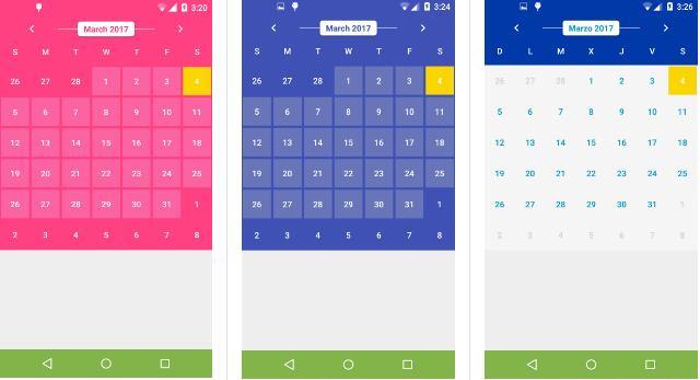 Calendario Android.Calendarview Personalizado Para Desarrolladores Android