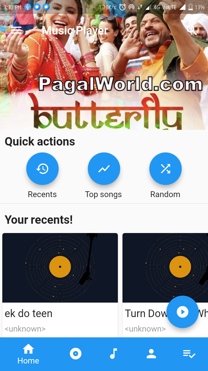 A complete music player in flutter with cool UI and design