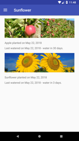 A gardening app illustrating Android development best