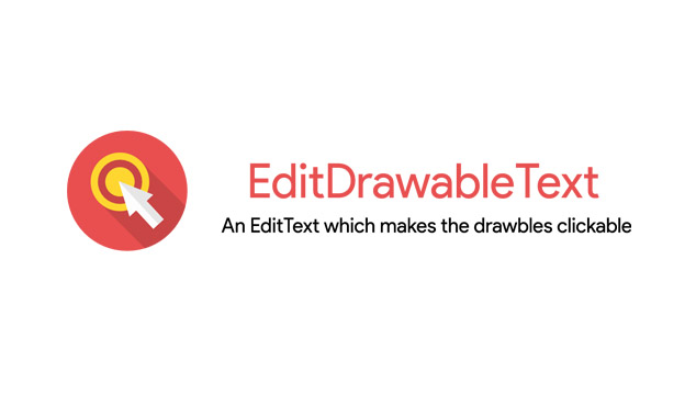 An EditText which makes your Drawable Clickable
