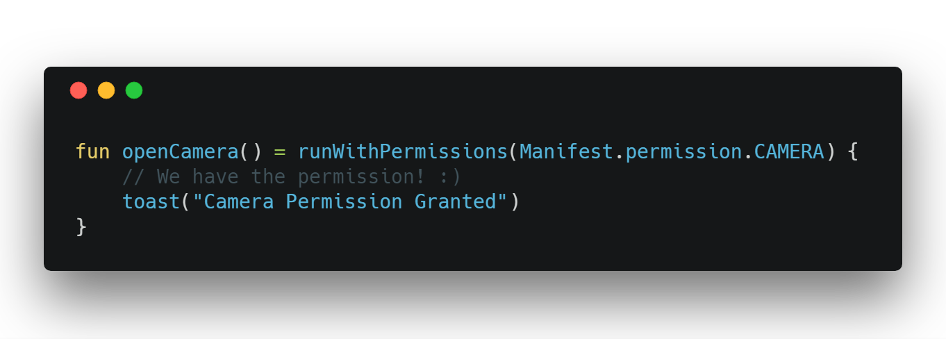 The most easiest way to handle Android Runtime Permissions in Kotlin