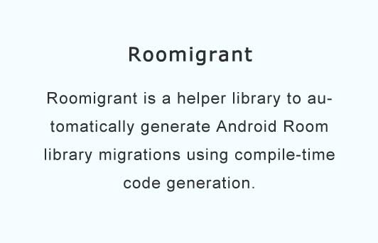 Automated Android Room ORM migrations generator with compile-time