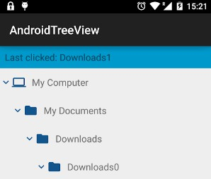 TreeView implementation for android