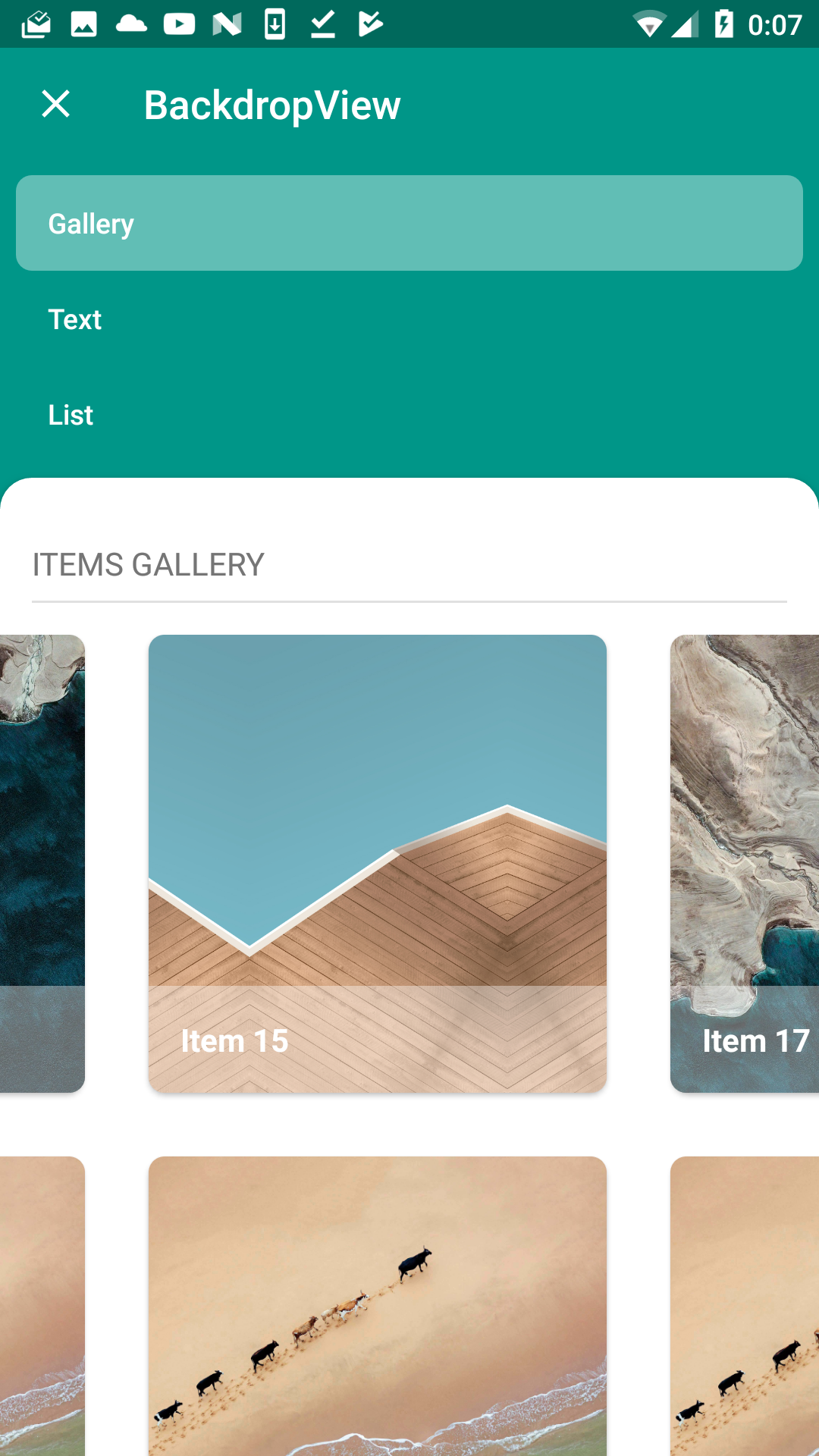 A simple solution for implementing backdrop for Android
