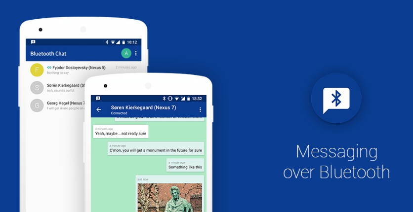 1-to-1 chatting app over Bluetooth with Android