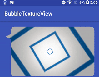 Custom bubble shape TextureView for Android