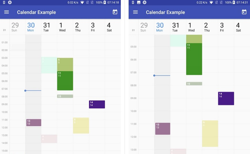 CalendarView in Material Design for Android