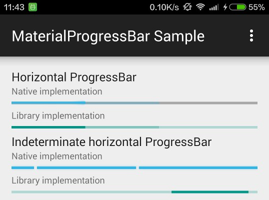 Material Design ProgressBar with consistent appearance