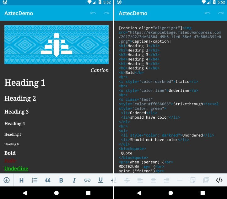 A reusable native Android rich text editor component