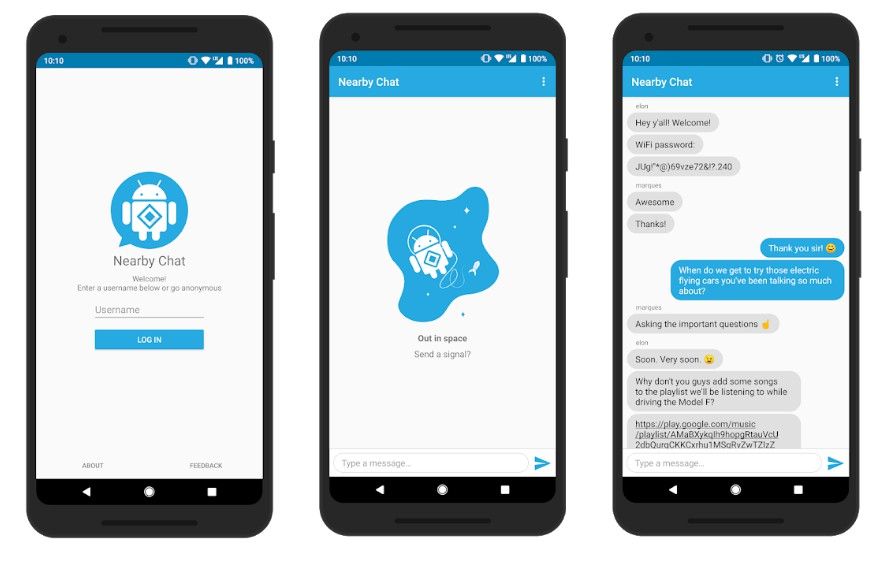 Android app to chat with anyone around you