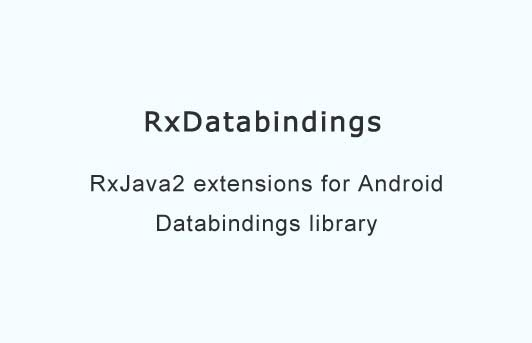 RxJava2 extensions for Android Databindings library
