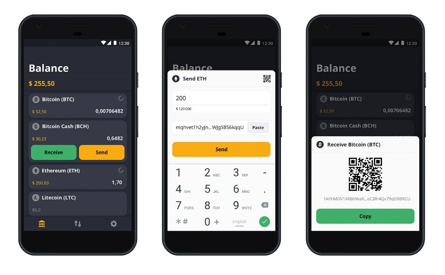 A secure and fully decentralized crypto currency wallet app for Android