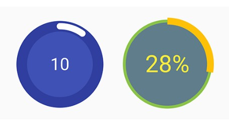 A customisable circular progress view for android