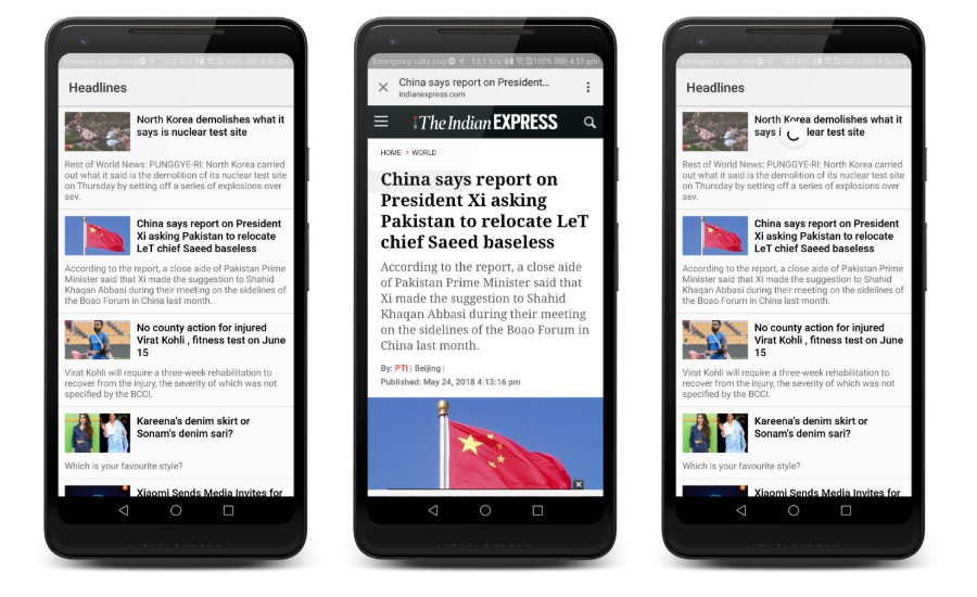 Simple Headlines app to showcase MVVM architecture in android