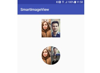 Smart Image View for Android where you can add multiple images