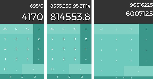 A simple android calculator created in collaboration with the UI design