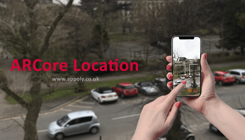 Allows items to be placed within the AR world with real-world GPS coordinates using ARCore