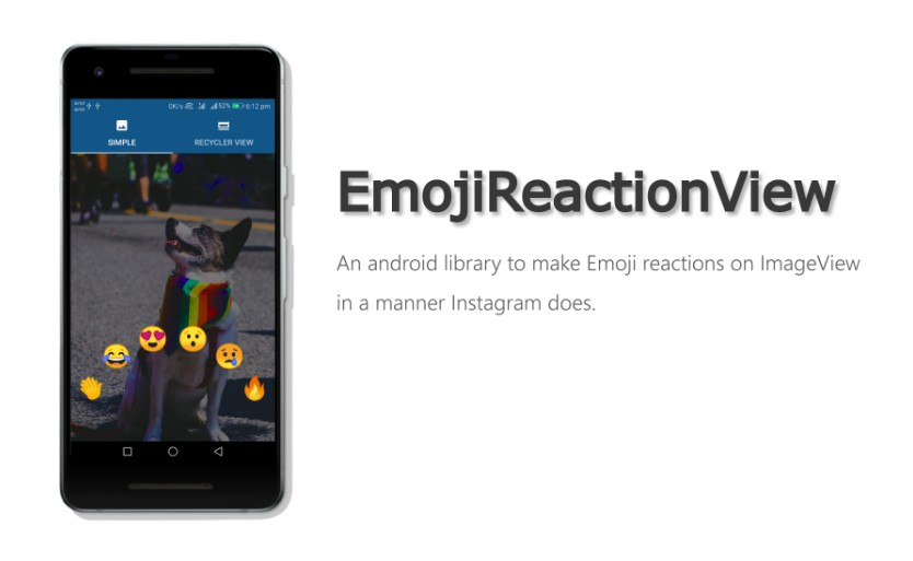 Instagram's emoji reaction for android