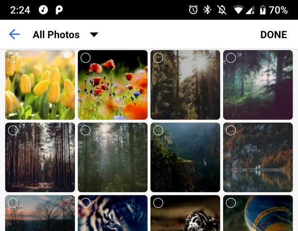 Gallery Picker allows you to design a custom gallery for image/ video picker