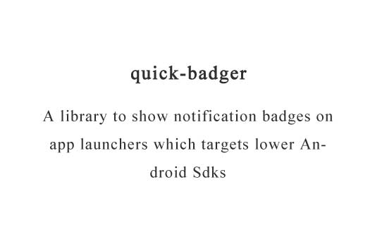 A library to show notification badges on app launchers which targets lower Android Sdks