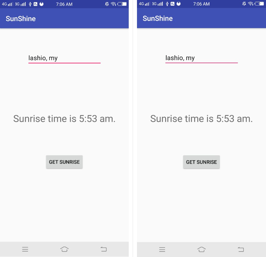 Sunrise time in kotlin for Android