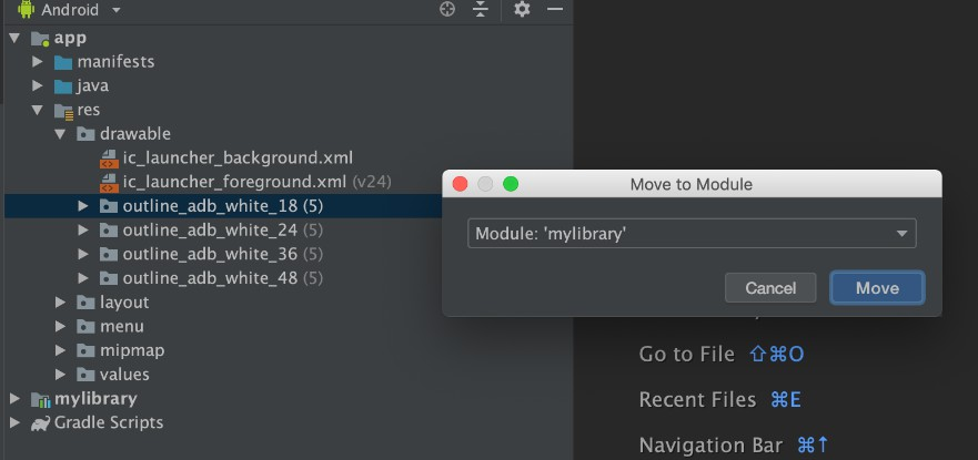 A IntelliJ IDEA plugin that help you move files or directories to target module quickly