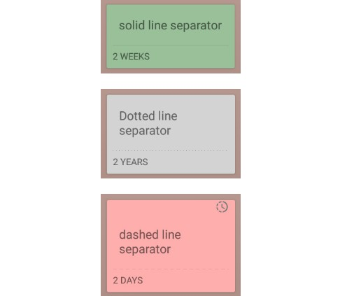 A SeparatorView for Android
