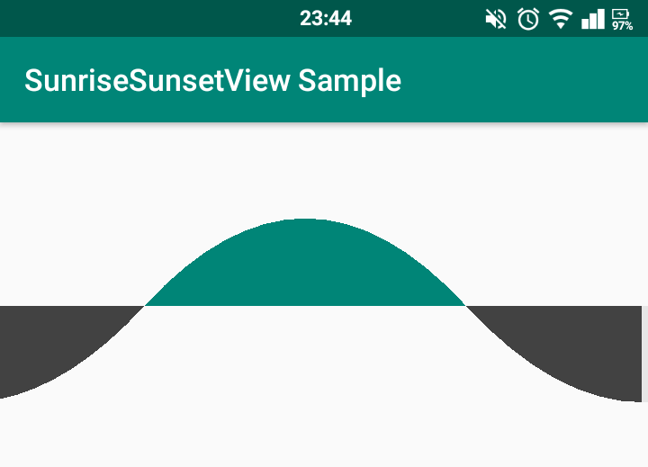 A lightweight Android view used for displaying and/or editing sunrise