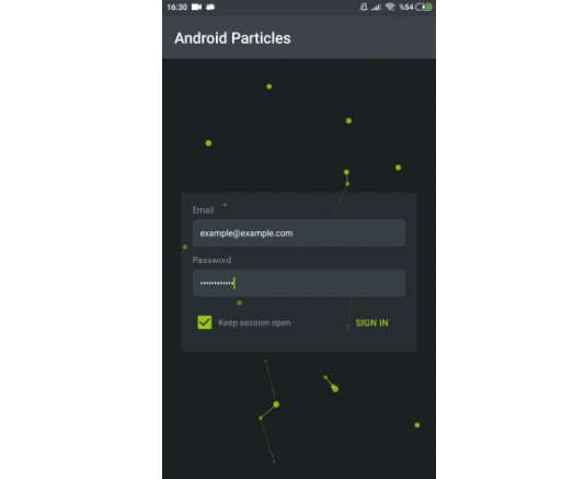 Particle animation library for Android