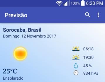 A weather app uses Yahoo Weather API