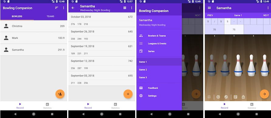 An Android app to track 5-pin bowling statistics