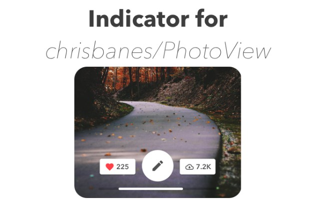 Indicator for PhotoView Library