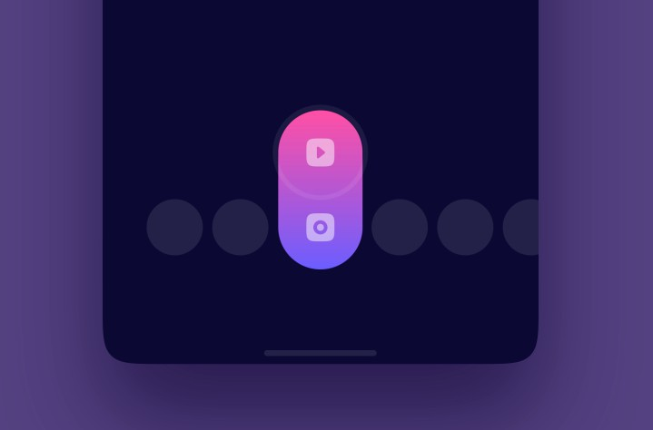 Android implementation of switch animation