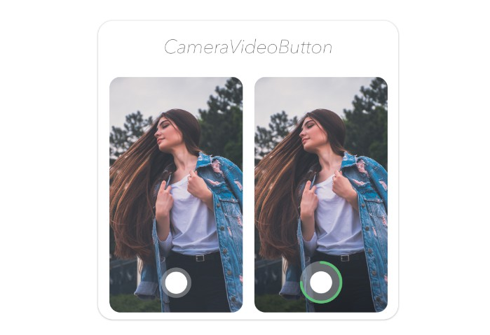 Instagram like animated button for taking photo or recording video