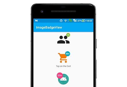 Add badge with counter to ImageView Android