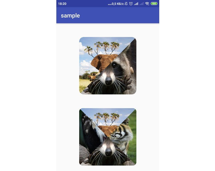 View that combines multiple images