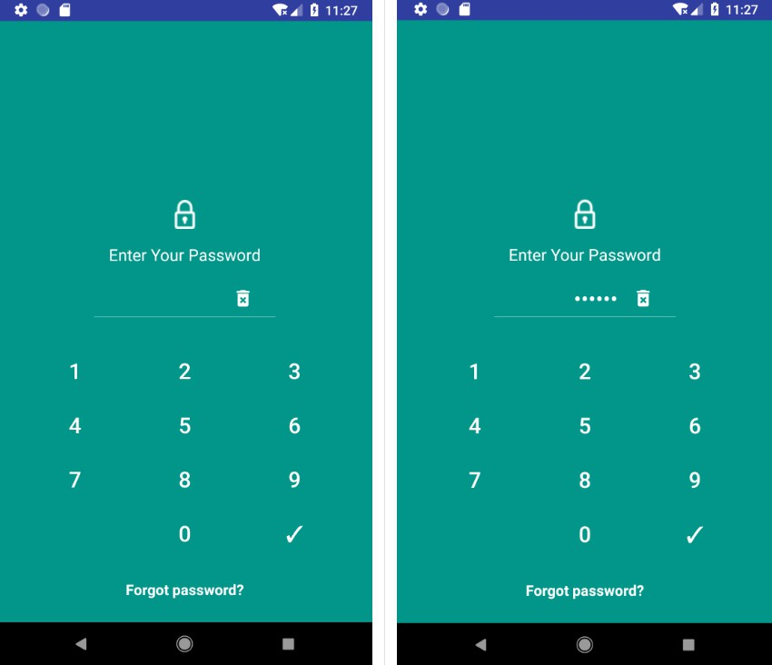 An easily implementable Lockscreen library for Android